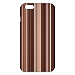 Brown Vertical Stripes Iphone 6 Plus/6s Plus Tpu Case by BangZart