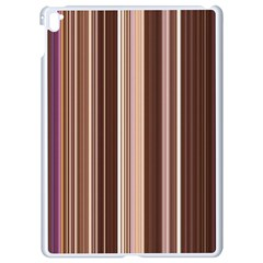 Brown Vertical Stripes Apple Ipad Pro 9 7   White Seamless Case