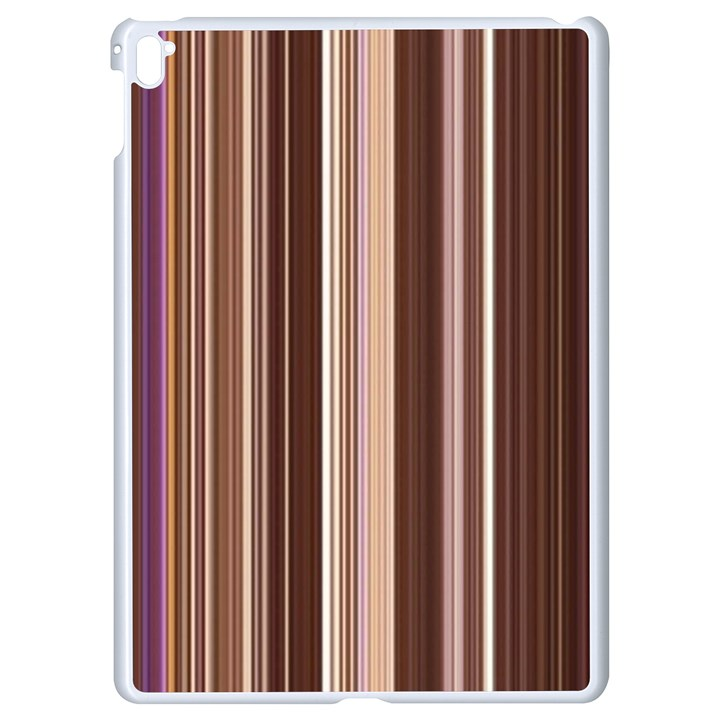 Brown Vertical Stripes Apple iPad Pro 9.7   White Seamless Case