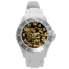 Blurry Sparks Round Plastic Sport Watch (l) by BangZart