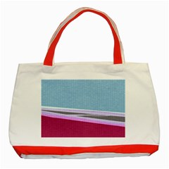 Cracked Tile Classic Tote Bag (red) by BangZart