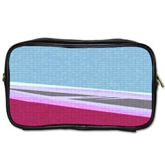 Cracked Tile Toiletries Bags 2 Side