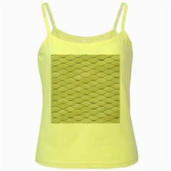 Roof Texture Yellow Spaghetti Tank by BangZart