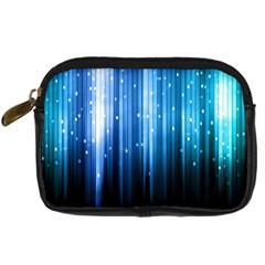 Blue Abstract Vectical Lines Digital Camera Cases by BangZart
