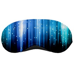 Blue Abstract Vectical Lines Sleeping Masks by BangZart