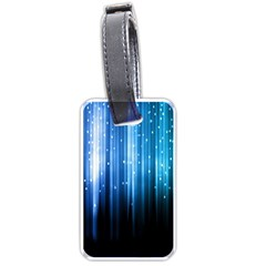 Blue Abstract Vectical Lines Luggage Tags (two Sides) by BangZart