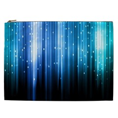 Blue Abstract Vectical Lines Cosmetic Bag (xxl)  by BangZart