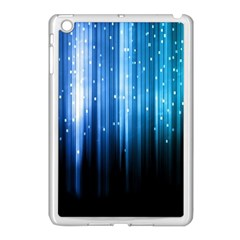 Blue Abstract Vectical Lines Apple Ipad Mini Case (white) by BangZart