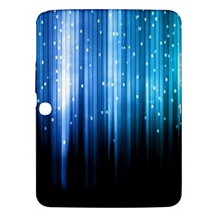Blue Abstract Vectical Lines Samsung Galaxy Tab 3 (10 1 ) P5200 Hardshell Case  by BangZart