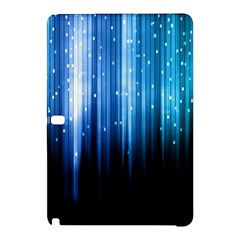 Blue Abstract Vectical Lines Samsung Galaxy Tab Pro 12 2 Hardshell Case by BangZart