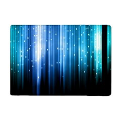Blue Abstract Vectical Lines Ipad Mini 2 Flip Cases by BangZart