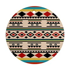 Tribal Pattern Ornament (round) by BangZart