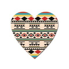 Tribal Pattern Heart Magnet by BangZart