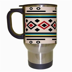 Tribal Pattern Travel Mugs (white) by BangZart