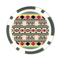 Tribal Pattern Poker Chip Card Guard (10 Pack) by BangZart