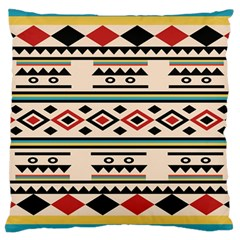 Tribal Pattern Large Cushion Case (two Sides) by BangZart