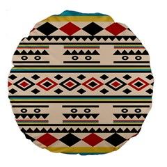 Tribal Pattern Large 18  Premium Round Cushions by BangZart