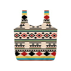 Tribal Pattern Full Print Recycle Bags (s)  by BangZart