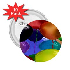 Colorful Balloons Render 2 25  Buttons (10 Pack)  by BangZart