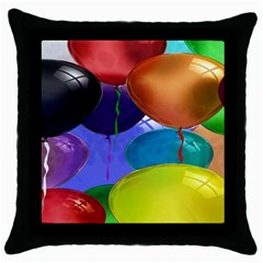 Colorful Balloons Render Throw Pillow Case (black) by BangZart