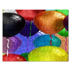 Colorful Balloons Render Rectangular Jigsaw Puzzl by BangZart