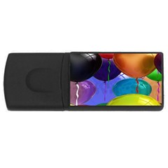 Colorful Balloons Render Usb Flash Drive Rectangular (4 Gb) by BangZart