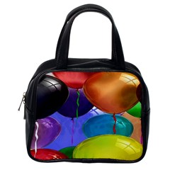 Colorful Balloons Render Classic Handbags (one Side)