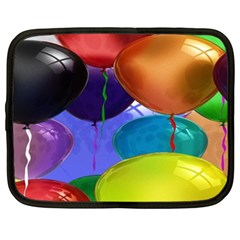Colorful Balloons Render Netbook Case (xxl)  by BangZart