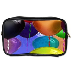Colorful Balloons Render Toiletries Bags 2 Side by BangZart