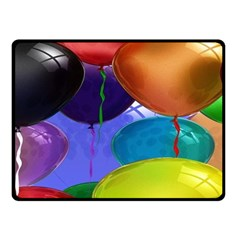 Colorful Balloons Render Fleece Blanket (small) by BangZart