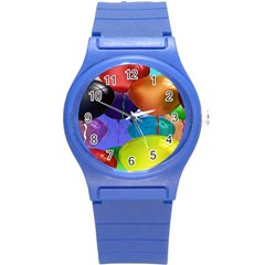 Colorful Balloons Render Round Plastic Sport Watch (s) by BangZart