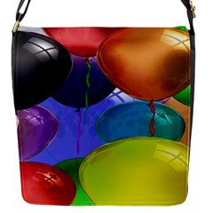 Colorful Balloons Render Flap Messenger Bag (s) by BangZart
