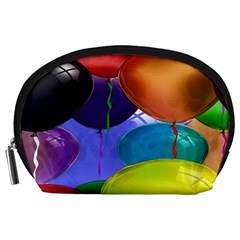Colorful Balloons Render Accessory Pouches (large)  by BangZart