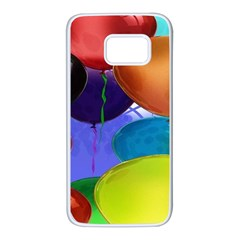 Colorful Balloons Render Samsung Galaxy S7 White Seamless Case by BangZart
