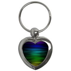Blue And Green Lines Key Chains (heart)  by BangZart