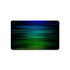 Blue And Green Lines Magnet (name Card) by BangZart