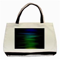 Blue And Green Lines Basic Tote Bag by BangZart