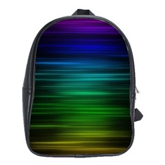 Blue And Green Lines School Bags(large)  by BangZart
