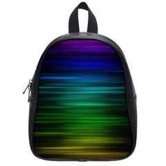 Blue And Green Lines School Bags (small)  by BangZart