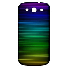 Blue And Green Lines Samsung Galaxy S3 S Iii Classic Hardshell Back Case by BangZart