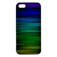 Blue And Green Lines Apple Iphone 5 Premium Hardshell Case by BangZart