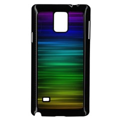Blue And Green Lines Samsung Galaxy Note 4 Case (black) by BangZart