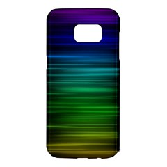 Blue And Green Lines Samsung Galaxy S7 Edge Hardshell Case by BangZart