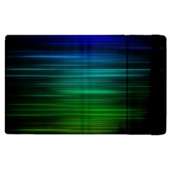 Blue And Green Lines Apple Ipad Pro 12 9   Flip Case by BangZart