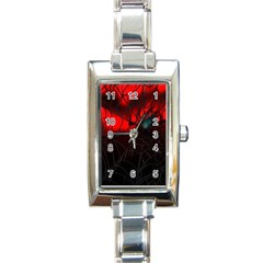 Spider Webs Rectangle Italian Charm Watch by BangZart