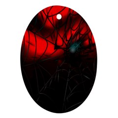 Spider Webs Ornament (oval) by BangZart