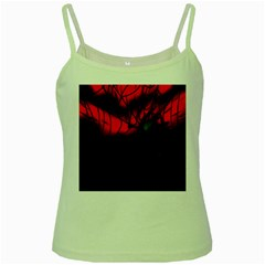 Spider Webs Green Spaghetti Tank by BangZart