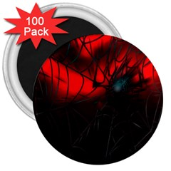 Spider Webs 3  Magnets (100 Pack) by BangZart