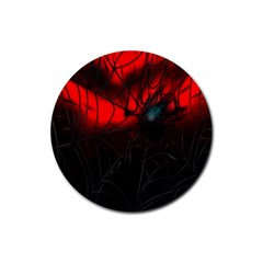 Spider Webs Rubber Coaster (round)  by BangZart