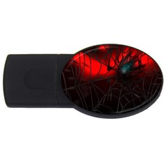 Spider Webs Usb Flash Drive Oval (2 Gb) by BangZart